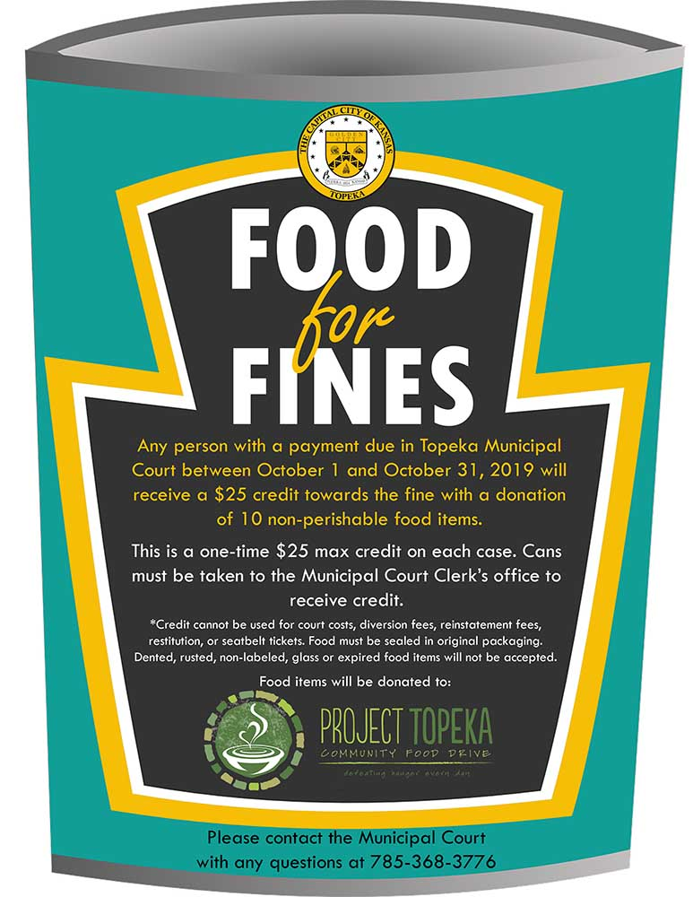 Food for Fines flyer. Click to download a PDF version of this document.
